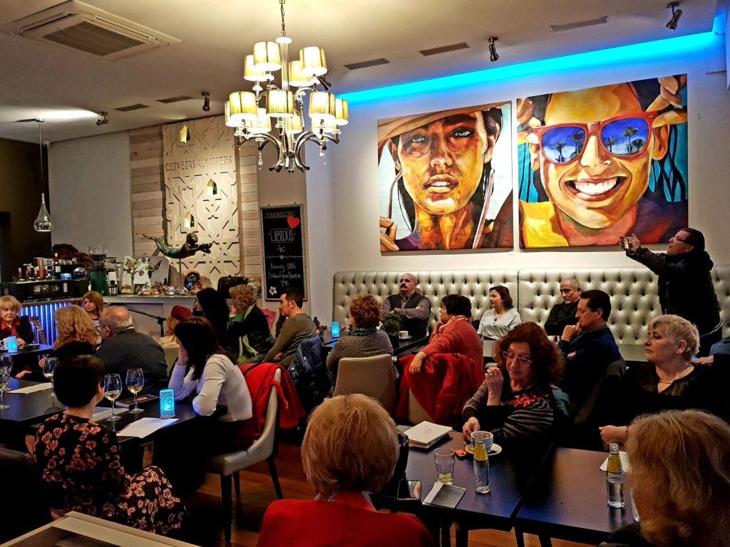 "exposicion paul arts ""retratos"" - Vino Mio Restaurante Malaga"